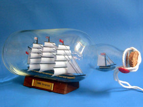 Handcrafted Model Ships Surprise Bottle HMS Surprise Ship in a Bottle 11""