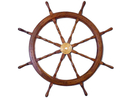 Handcrafted Model Ships SW-1712 Deluxe Class Wood and Brass Ship Wheel 48