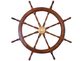 Handcrafted Model Ships SW-1712 Wooden Ship Wheel 48""