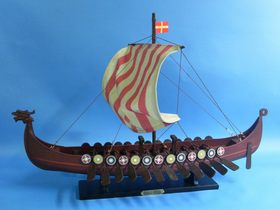 Handcrafted Model Ships Viking 24 Viking Drakkar 24""