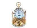 Handcrafted Model Ships WC-1431 Solid Brass Clock with Compass 5