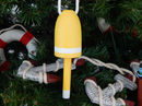 Handcrafted Model Ships Y-40992-YB6-XMASS Wooden Yellow Lobster Buoy Christmas Tree Ornament