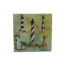 "Handcrafted Model Ships Y-41411 Glass Lighthouse Trivet 8"""