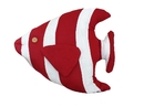 Handcrafted Model Ships Y-60780-Red-Fish Red Tropical Fish Pillow 18