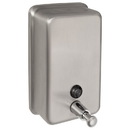 Harney Hardware 19058 Commercial Liquid Soap Dispenser, ADA Compliant, Vertical, 40 Oz. Capacity