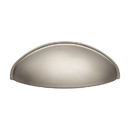 """Harney Hardware 36241 Pull, Cup, Zinc, 3 1/8"""" Wide X 1 1/8"""" Projection, Satin Nickel"""