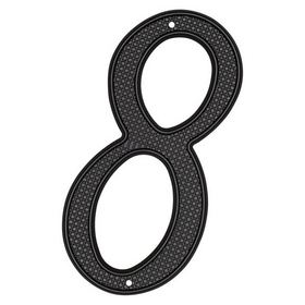 Harney Hardware 37508 4 Inch High House Number 8, Black, Price/each