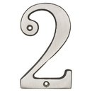 Harney Hardware 38215 4 In. House Number 2, Solid Brass