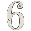 Harney Hardware 38615 4 In. House Number 6, Solid Brass