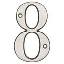 Harney Hardware 38815 4 In. House Number 8, Solid Brass