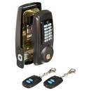 Harney Hardware EDLRFU11P Electronic Push Button Door Lock W/ Remote RF Key Fob, Venetian Bronze