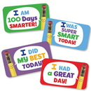 Hygloss 18104 Classroom Stickers - 25 ct., I Was Super Smart Today!