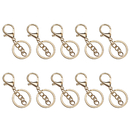 Aspire 50 Sets Key Chain Making Parts, Split Key Ring with Chain & Lobster Clasp