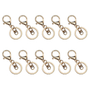 Aspire 50 Pack Key Ring with Extend Chain and Swivel Ring Connector, Charm Craft Making