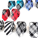 TopTie Wholesale Lot Mens 10 Skinny Neck Tie New Necktie, Plaid Neckties