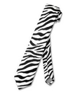 TopTie Unisex Zebra Animal Print Skinny Necktie Tie