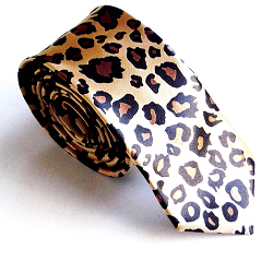 "TopTie Unisex Fashion Leopard Spotted Print Skinny 2"" Necktie Tie, Gift Idea"