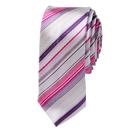 TopTie Purple And White Stripe Skinny 2