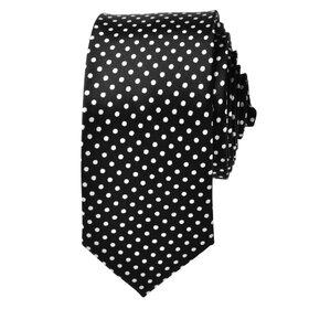 "TopTie Unisex New Fashion Black With White Polka Dots Skinny 2"" Inch Necktie, Discount Neckties"