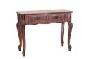 International Caravan 3808 Carved Wood 2 Drawer Queen Anne Hall Table