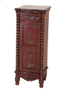 International Caravan 3809 Carved Wood 1 Drawer/1 Door Tall Cabinet