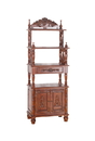 International Caravan 3810 Carved Wood 1 Drawer/2 Door Bookshelf