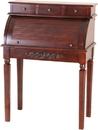 International Caravan 3820 Carved Wood Roll Top Desk, Brown Stain