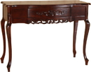 International Caravan 3849 Carved Wood One Drawer Table