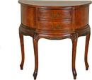 International Caravan 3871 Half Moon Wood Wall Table with Two Drawers, Brown Stain
