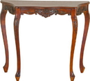 International Caravan 3875 Carved Four Leg Scalloped Wall Table, Brown Stain