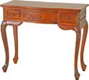 International Caravan 3879 Carved Wood Vanity Desk, Brown Stain