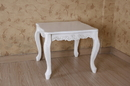 International Caravan 3962-AW Square Carved Wood End Table