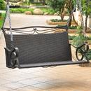 International Caravan Valencia Resin Wicker/Steel Loveseat Swing