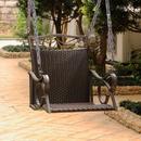 International Caravan Valencia Resin Wicker/Steel Single Chair Swing