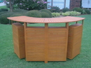 International Caravan TT-BR-001 Royal Tahiti Outdoor Wood Fold Out Bar, Brown Stain