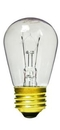 IEC ADP0104 Mini Light Bulb for E26 socket 120V 11 W Incandescent clear