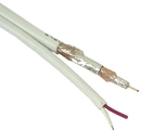 IEC CAB002-18G-RG6W 18 Gauge 2 Conductor Plus 1 RG6 Coax White Priced by the Foot