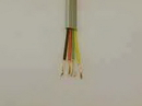 IEC CAB004-MP 28 Gauge 4 Conductor Silver Satin Cable Priced by the Foot