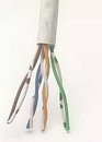IEC CAB008-MP-L5-WH 24 Gauge 4 Pair Stranded Category 5e White Cable Priced by the Foot