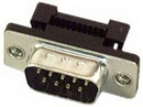 IEC DB09MC-TH DB09 Male Ribbon Connector with Threaded Tabs