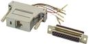 IEC DB25F-RJ4508-SH DB25 Female to RJ4508 Adapter Shielded with Metalized Plastic