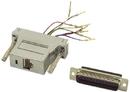 IEC DB25M-RJ4508-SH DB25 Male to RJ4508 Adapter Shielded with Metalized Plastic