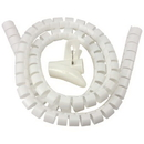 IEC HWS1-1-4WH Spiral Cable Zip Wrap White 1-1/4 Inch x 59 Inch