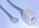 IEC L0540-50 RJ11 Male to Female phone cord extension Straight Cable 50'