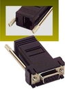 IEC L0671-BK Adapter Crossed DB09 Female to RJ45 PC Black DTE