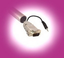 IEC L13241-35 VGA Monitor & 3.5mm Audio Easy Install Cable Male to Male 35 feet