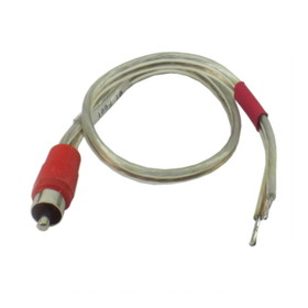 IEC L74222-01 18 AWG Speaker wire with RCA Male Red adapter 1'