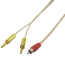 IEC L74252-06 16 AWG Speaker wire with RCA Male Red to 1 pair Banana Plugs 6'