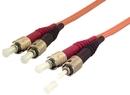 IEC L8100-01M ST to ST Duplex 62.5 ? Multimode Fiber Optic Cable 1 Meter