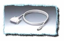 IEC M1526 Apple Mac&#8482 Mini Din 8 Male to DB25 Male Cable for Serial Printers 6'